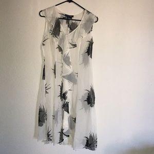 Etcetera sheer dress size 4 silk